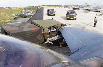 我的飞机发生了交通事故!